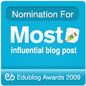 Nominated: Most influential blog post 2009
