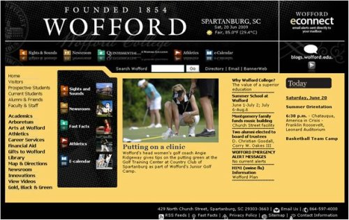 wofford home Multiple Templates on a Website – Ask a Guru